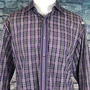 Robert Graham Flip Cuff XL Shirt